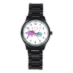 Elephant love Stainless Steel Round Watch