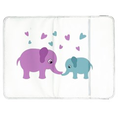 Elephant love Samsung Galaxy Tab 7  P1000 Flip Case
