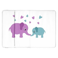 Elephant love Samsung Galaxy Tab 8.9  P7300 Flip Case