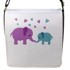 Elephant love Flap Messenger Bag (S)