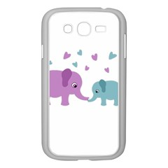 Elephant love Samsung Galaxy Grand DUOS I9082 Case (White)