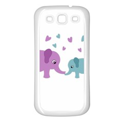 Elephant love Samsung Galaxy S3 Back Case (White)