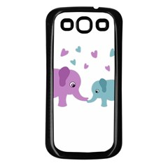 Elephant love Samsung Galaxy S3 Back Case (Black)