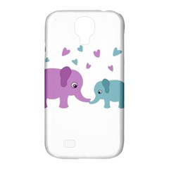 Elephant love Samsung Galaxy S4 Classic Hardshell Case (PC+Silicone)