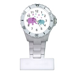 Elephant love Plastic Nurses Watch