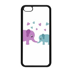 Elephant love Apple iPhone 5C Seamless Case (Black)