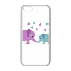 Elephant love Apple iPhone 5C Seamless Case (White)
