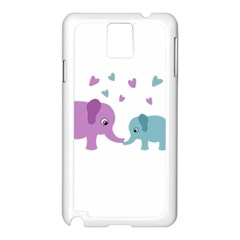 Elephant love Samsung Galaxy Note 3 N9005 Case (White)