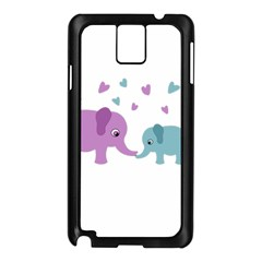 Elephant love Samsung Galaxy Note 3 N9005 Case (Black)