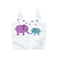 Elephant love Full Print Recycle Bags (S)