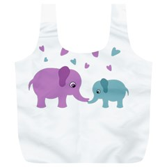 Elephant love Full Print Recycle Bags (L)