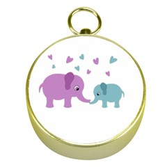 Elephant love Gold Compasses