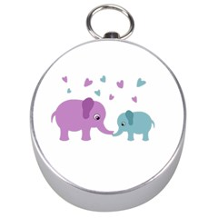 Elephant love Silver Compasses