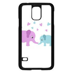 Elephant Love Samsung Galaxy S5 Case (black)