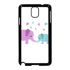 Elephant love Samsung Galaxy Note 3 Neo Hardshell Case (Black)