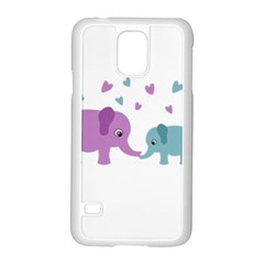Elephant love Samsung Galaxy S5 Case (White)