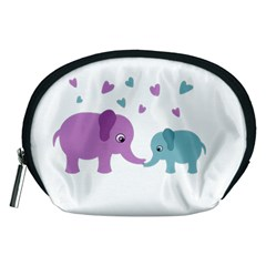 Elephant love Accessory Pouches (Medium)