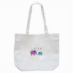 Elephant love Tote Bag (White)