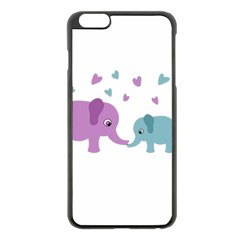 Elephant love Apple iPhone 6 Plus/6S Plus Black Enamel Case