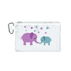 Elephant love Canvas Cosmetic Bag (S)