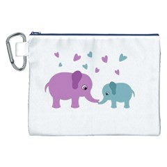 Elephant love Canvas Cosmetic Bag (XXL)