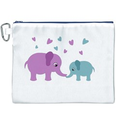 Elephant love Canvas Cosmetic Bag (XXXL)