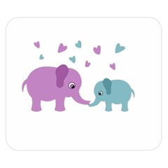 Elephant love Double Sided Flano Blanket (Small)
