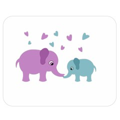 Elephant love Double Sided Flano Blanket (Medium)