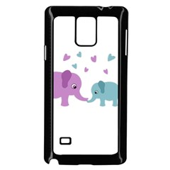 Elephant love Samsung Galaxy Note 4 Case (Black)