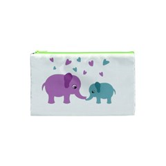 Elephant love Cosmetic Bag (XS)