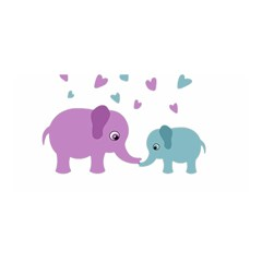 Elephant love Satin Wrap
