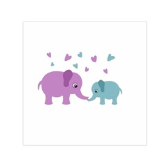 Elephant love Small Satin Scarf (Square)