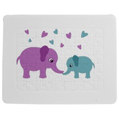 Elephant love Jigsaw Puzzle Photo Stand (Rectangular)