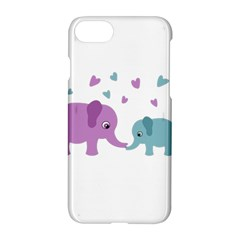 Elephant love Apple iPhone 7 Hardshell Case