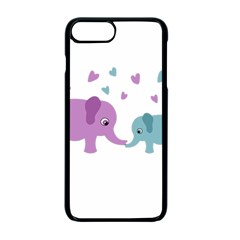 Elephant love Apple iPhone 7 Plus Seamless Case (Black)
