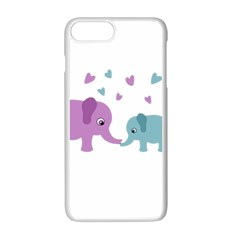 Elephant love Apple iPhone 7 Plus White Seamless Case