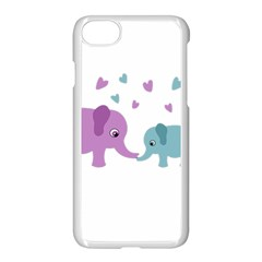 Elephant love Apple iPhone 7 Seamless Case (White)