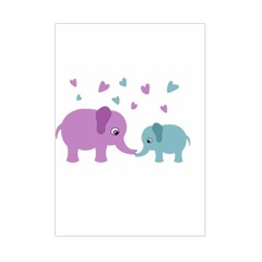 Elephant love Small Tapestry