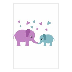 Elephant love Large Tapestry