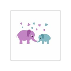 Elephant love Square Tapestry (Small)