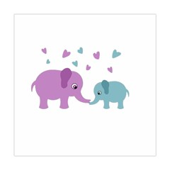 Elephant love Square Tapestry (Large)
