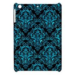 Damask1 Black Marble & Turquoise Marble Apple Ipad Mini Hardshell Case