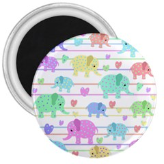 Elephant pastel pattern 3  Magnets