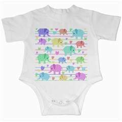 Elephant pastel pattern Infant Creepers