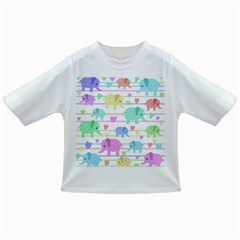Elephant pastel pattern Infant/Toddler T-Shirts