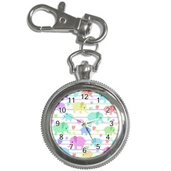 Elephant pastel pattern Key Chain Watches