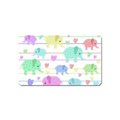 Elephant pastel pattern Magnet (Name Card)