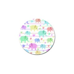 Elephant pastel pattern Golf Ball Marker (4 pack)