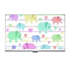 Elephant pastel pattern Business Card Holders