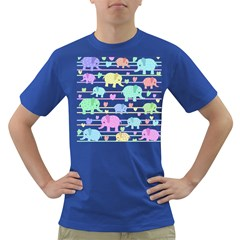 Elephant pastel pattern Dark T-Shirt